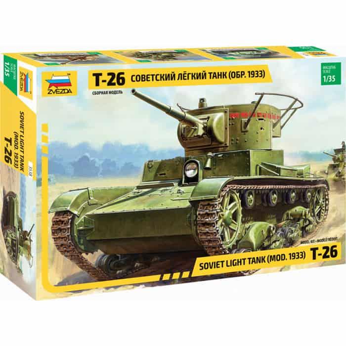 Сборная модель Звезда Советский легкий танк Т - 26 (обр. 1933 г.), 1/35 ZV 3538