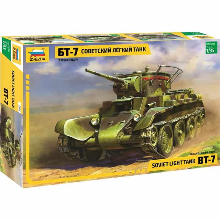 Сборная модель Звезда Советский лёгкий танк БТ - 7, 1/35 - ZV - 3545 танк звезда t v пантера 1 35