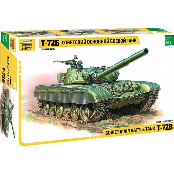 Сборная модель Звезда Советский основной боевой танк Т - 72Б, 1/35 ZV 3550