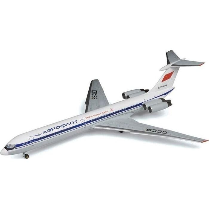 Сборная модель Звезда Советский пассажирский авиалайнер Ил - 62М, подарочный набор, 1/144 ZV 7013П