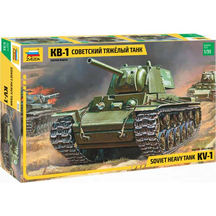 Сборная модель Звезда Советский тяжелый танк КВ - 1, 1/35 ZV 3539
