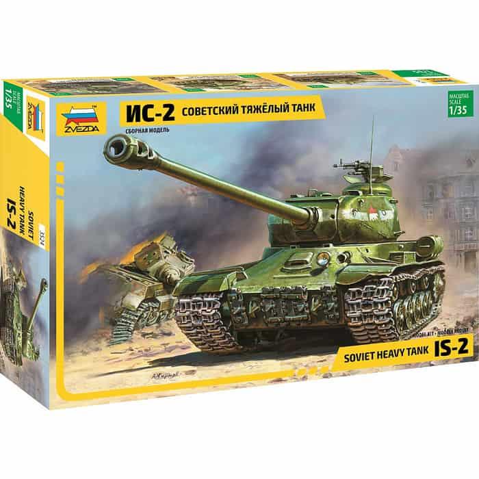 Сборная модель Звезда Советский тяжёлый танк ИС - 2, 1/35 ZV 3524