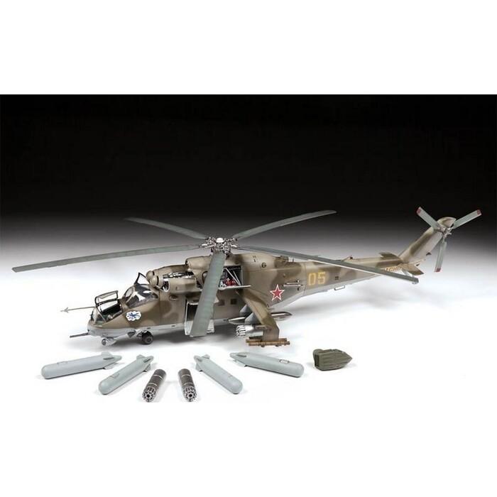 Сборная модель Звезда Советский ударный вертолет Ми - 24В/ВП, 1/48 ZV 4823