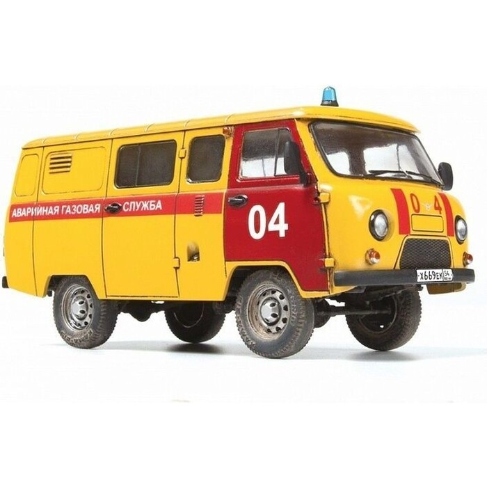 Сборная модель Звезда УАЗ - 3909 Буханка Аварийная газовая служба, 1/43 ZV 43003