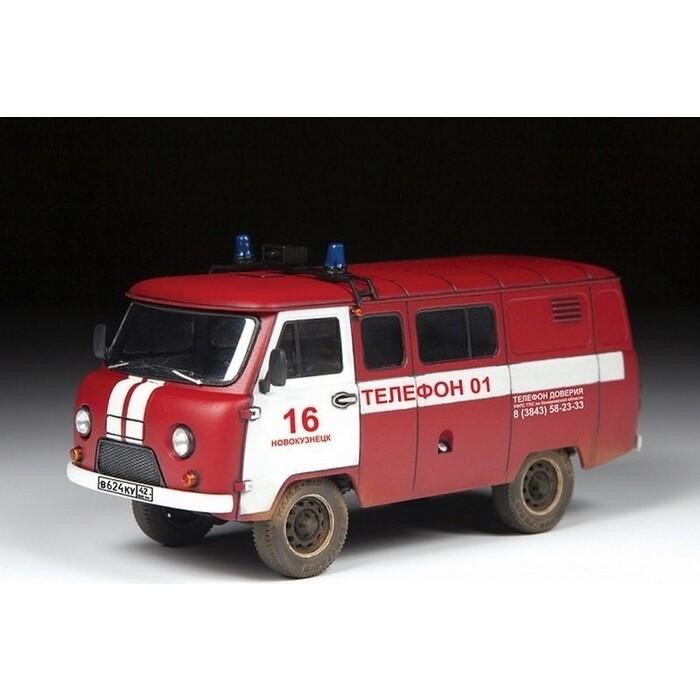 Сборная модель Звезда УАЗ - 3909 Буханка Пожарная служба, 1/43 ZV 43001