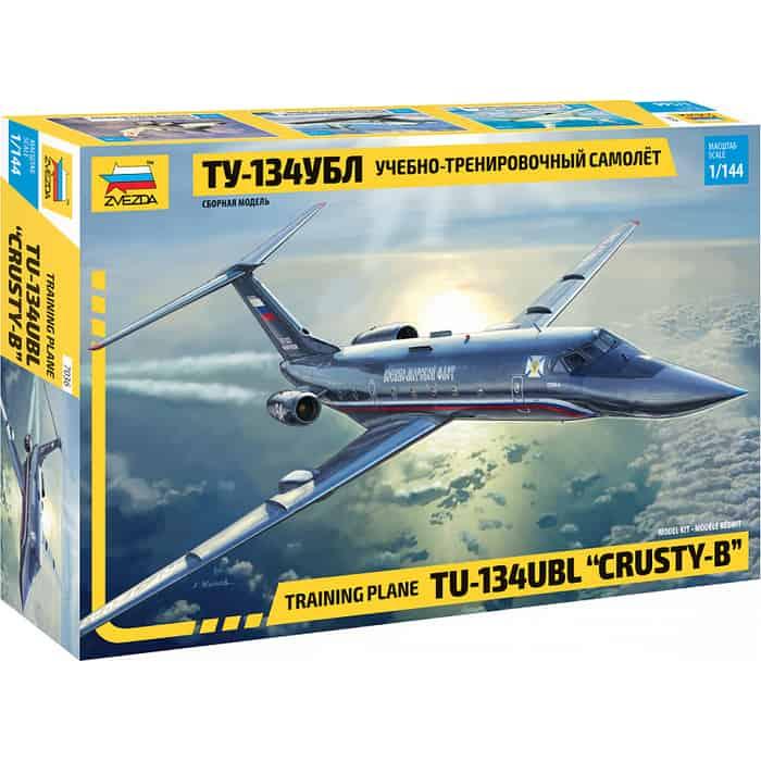Сборная модель Звезда Учебно - тренировочный самолёт ТУ 134УБЛ, 1/144 ZV 7036