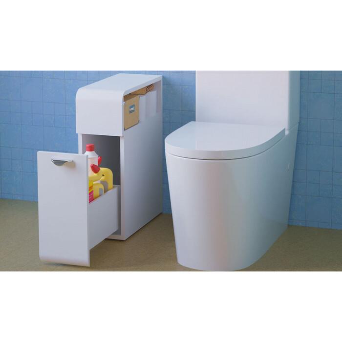 Тумба для туалетной комнаты Raval Space 18 напольная, белая (Spa.01.18/N/W)