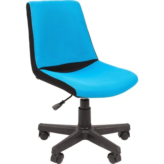 Кресло Chairman Kids 115 TW 11/TW 43 черно-голубой