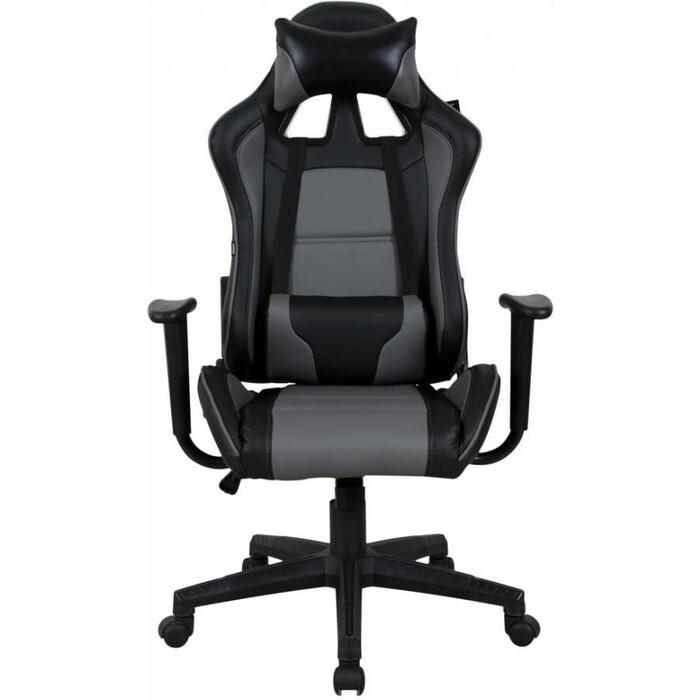 Кресло компьютерное Brabix GT Racer GM-100 две подушки экокожа черное/серое 531926