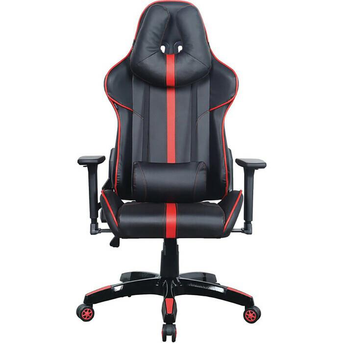 Кресло компьютерное Brabix GT Carbon GM-120 две подушки экокожа черное/красное 531931