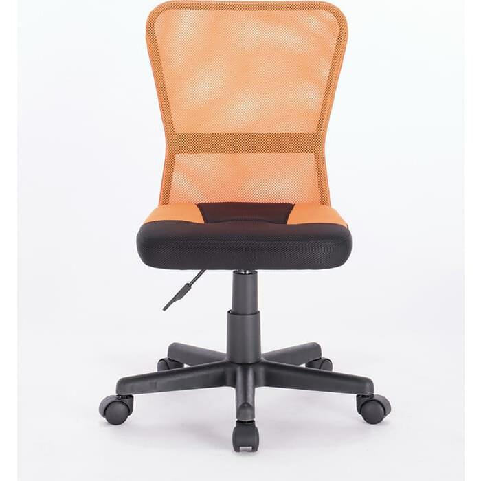Кресло компактное Brabix Smart MG-313 без подлокотников комбинированное черное/оранжевое 531844