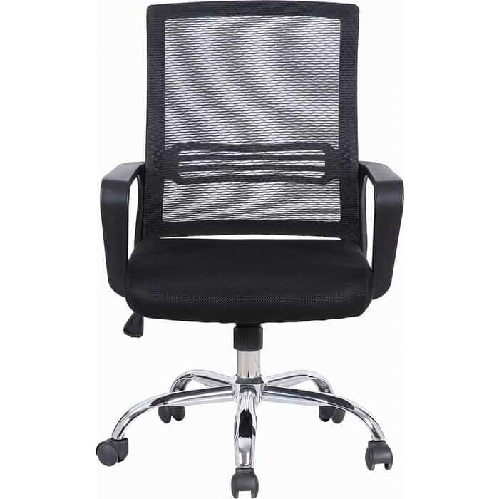 Кресло Brabix Daily MG-317 с подлокотниками/хром черное 531833