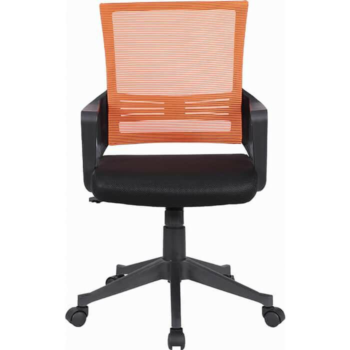 Кресло Brabix Balance MG-320 с подлокотниками комбинированное черное/оранжевое 531832