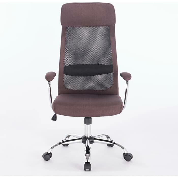 Кресло офисное Brabix Flight EX-540 хром/ткань сетка коричневое 531849