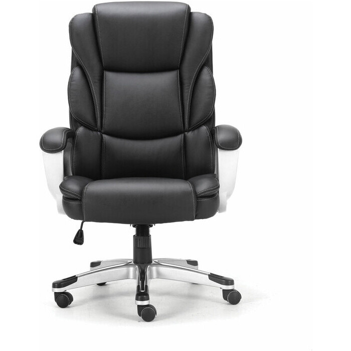 Кресло офисное Brabix Rest EX-555 пружинный блок экокожа черное Premium 531938