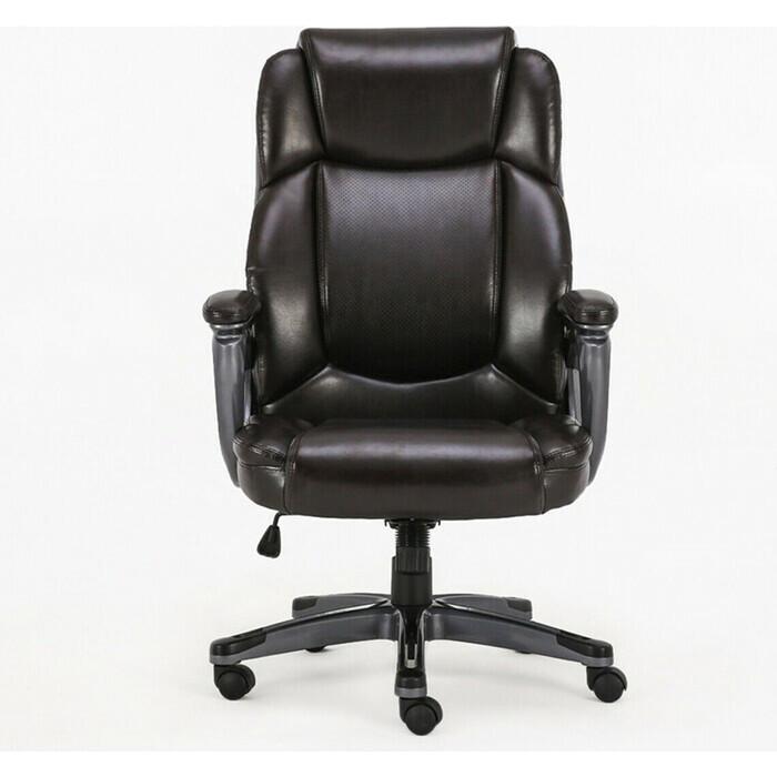 Кресло офисное Brabix Favorite EX-577 пружинный блок рециклированная кожа коричневое Premium 531936
