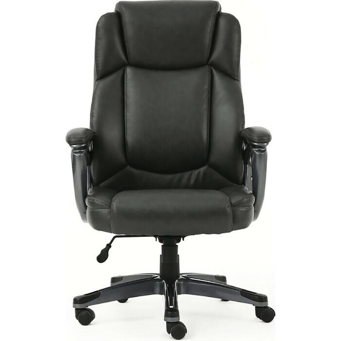 Кресло офисное Brabix Favorite EX-577 пружинный блок рециклированная кожа серое Premium 531935