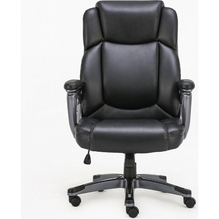 Кресло офисное Brabix Favorite EX-577 пружинный блок рециклированная кожа черное Premium 531934