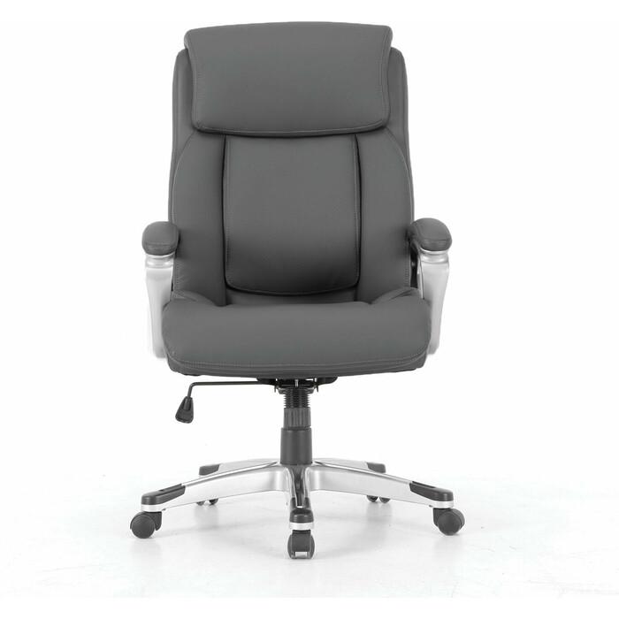 Кресло офисное Brabix Level EX-527 пружинный блок рециклированная кожа серое Premium 531937