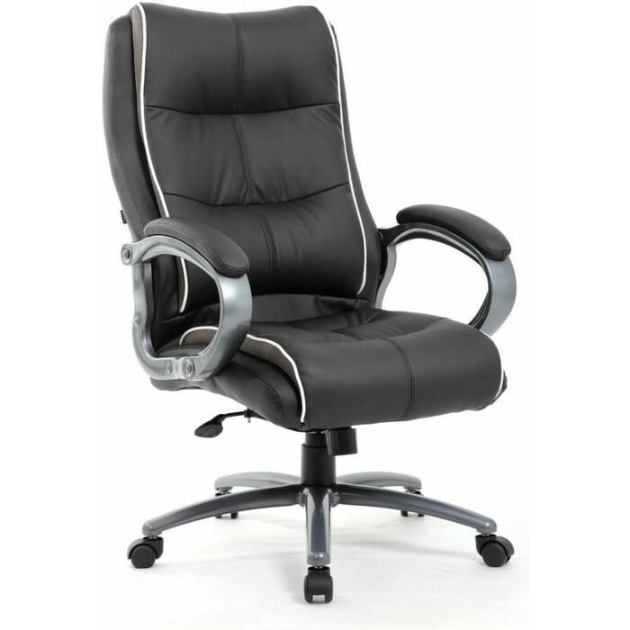 Кресло офисное Brabix Strong HD-009 экокожа черная/ткань серая Premium 531945