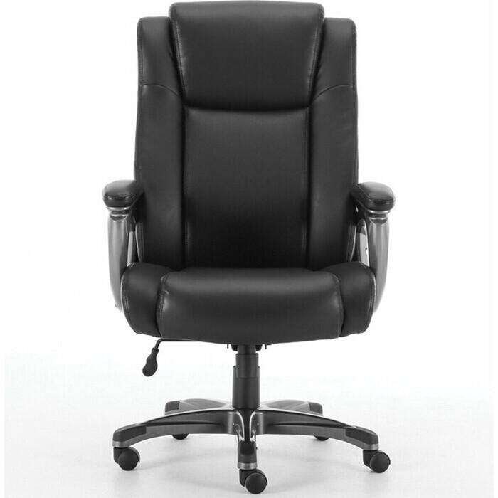 Кресло офисное Brabix Solid HD-005 рециклированная кожа черное Premium 531941