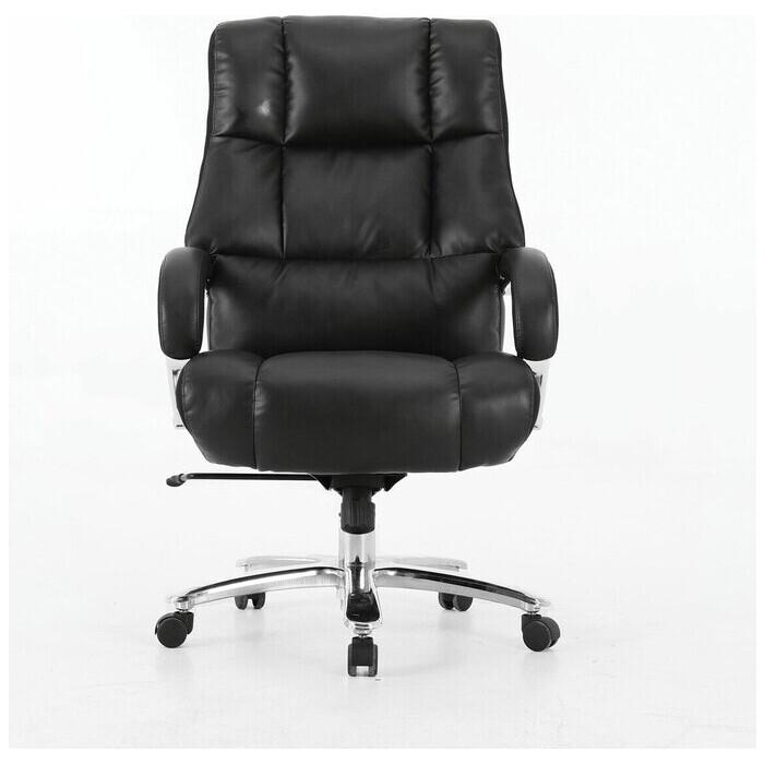 Фото - Кресло офисное Brabix Bomer HD-007 рециклированная кожа/хром черное Premium 531939 кресло офисное brabix status hd 003 рециклированная кожа хром черное 531821