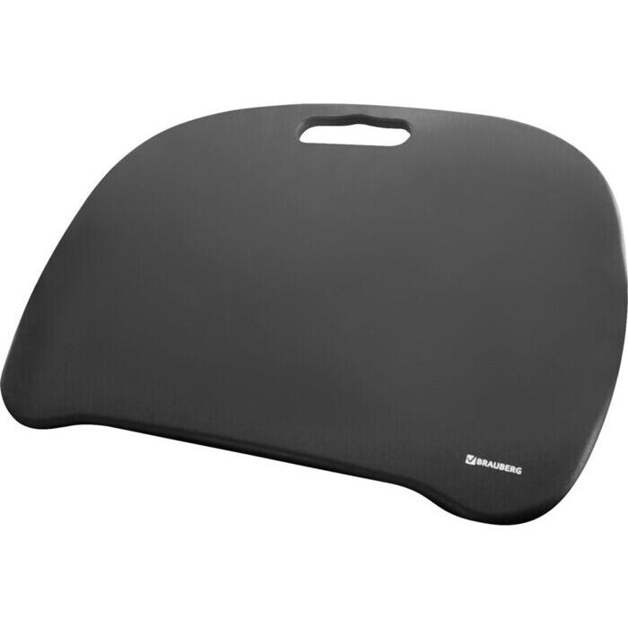 BRAUBERG Подставка-столик с мягкими подушками, для ноутбука и творчества черный 512669