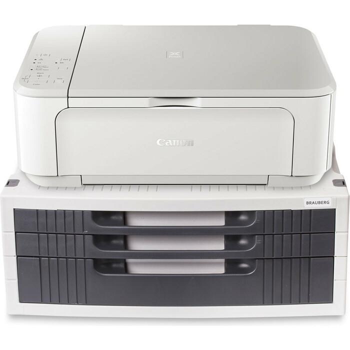 Подставка для принтера или монитора BRAUBERG с 1 полкой и 3 ящиками 510190