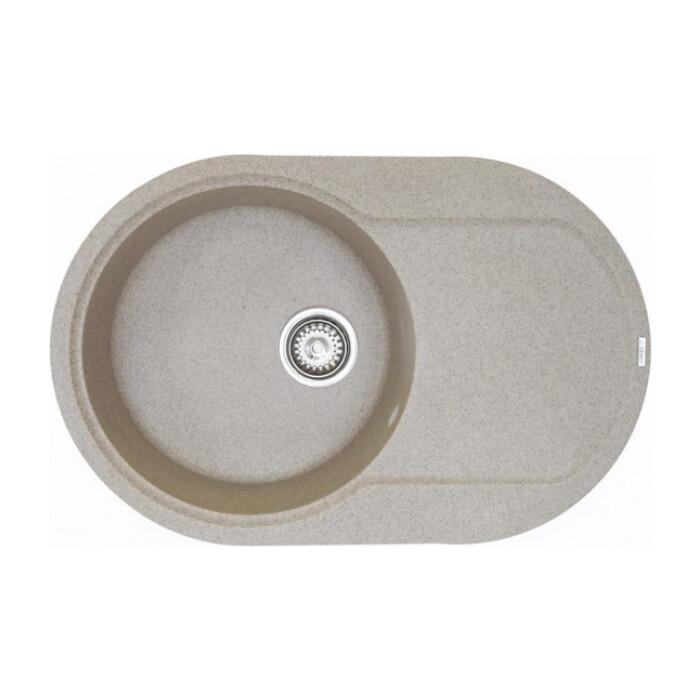 Кухонная мойка Kaiser круглая, мраморная, песочная (KMM-7850 S-302/KMM-7850 S)