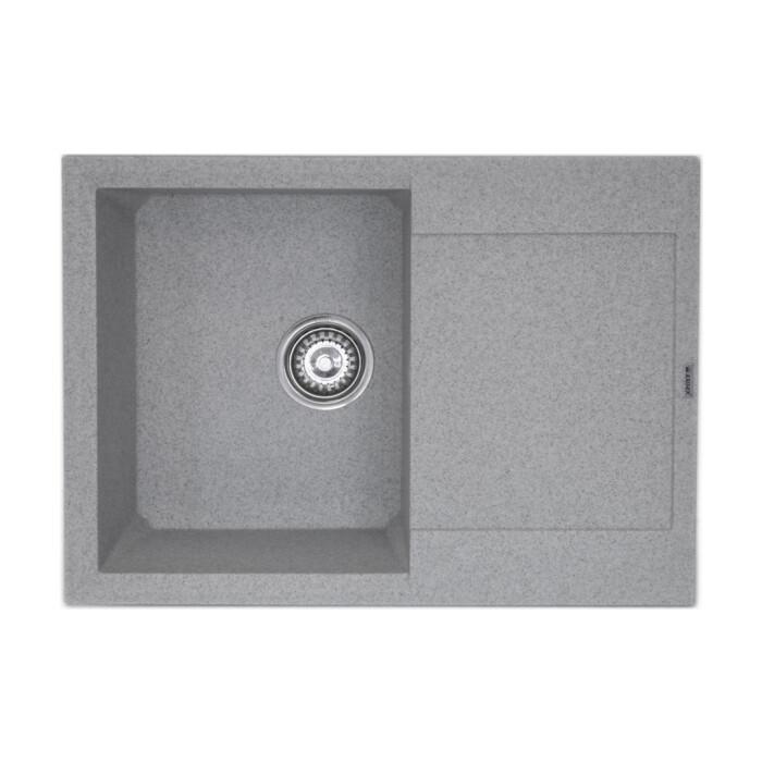 Кухонная мойка Kaiser KMM-5068 Grey мраморная, серая (KMM-5068 Gr./KMM-5068 G)