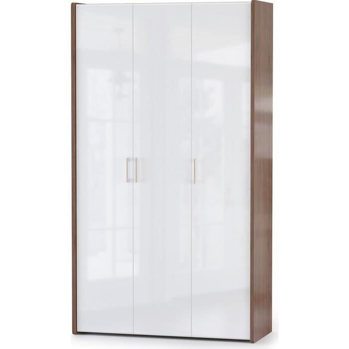 Шкаф для одежды Моби Камея 10.78 белый глянец/орех селект каминный