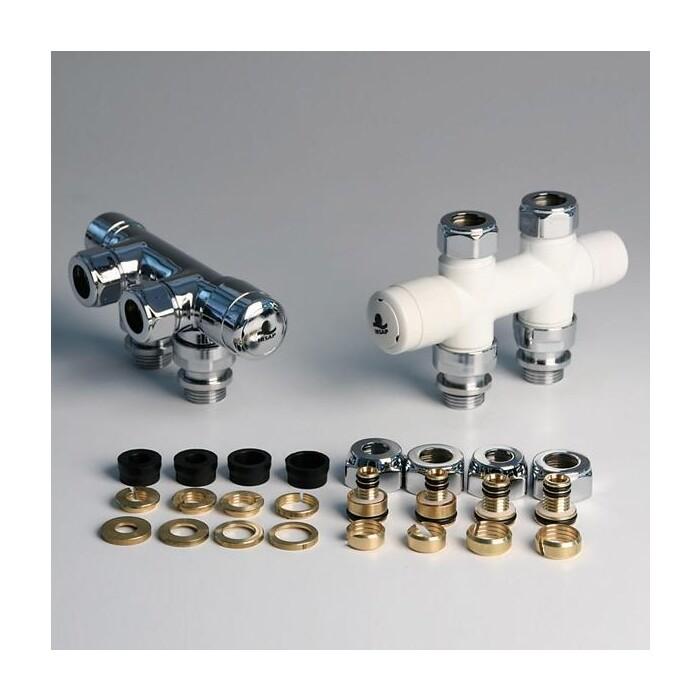 Комплектующие к радиаторам Irsap Tesi 2 хром (VALKIT50DIRCU50) комплектующие