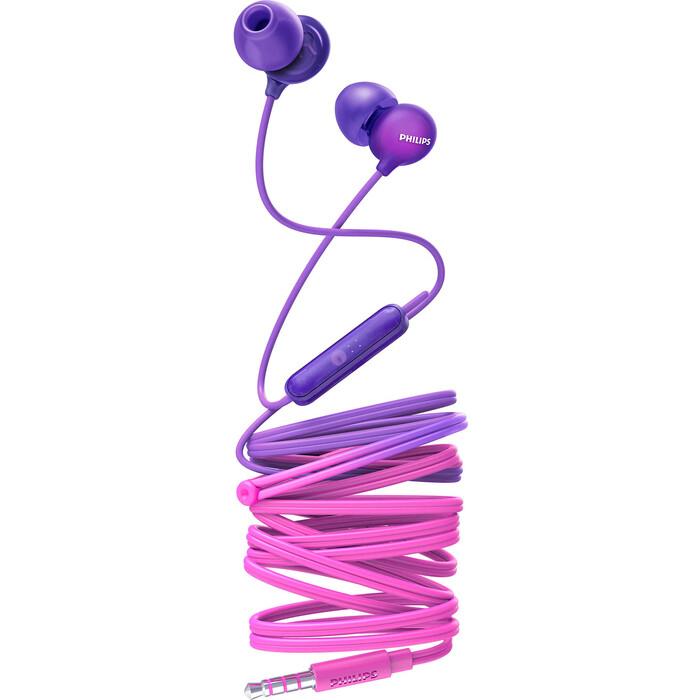 Наушники Philips SHE2405PP pink/purple купальник pink summer pink summer pi030ewfuau8