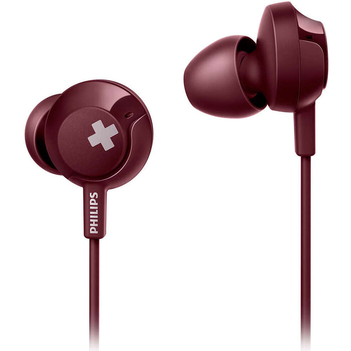 Наушники Philips SHE4305RD red philips she 8100 red