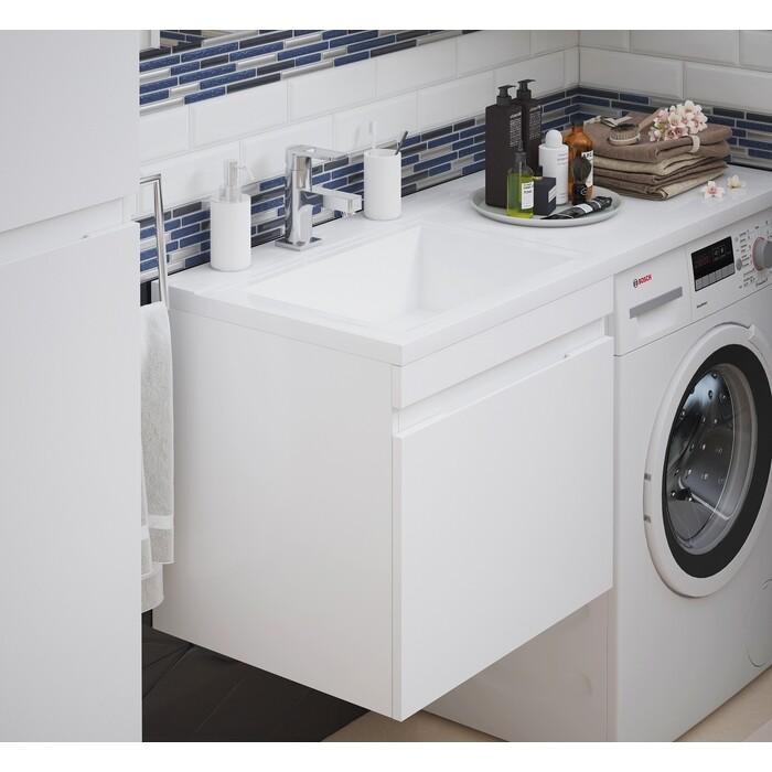 Тумба под раковину Corozo Альтаир 57 (120) подвесная, стиральную машину, белая (SD-00000501)
