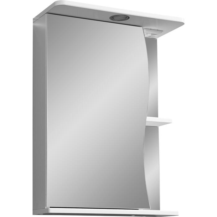 зеркало шкаф stella polar винчи 50 с подсветкой левый белый sp 00000033 Зеркало-шкаф Stella Polar Верея 55 с подсветкой, левый, белый (SP-00000040)