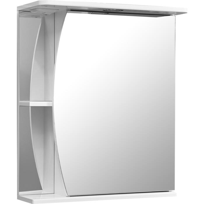 зеркало шкаф stella polar винчи 50 с подсветкой левый белый sp 00000033 Зеркало-шкаф Stella Polar Лана 60 с подсветкой, правый, белый (SP-00000049)