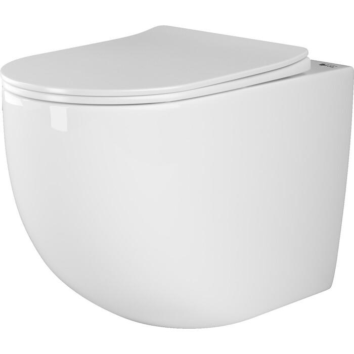 Приставной унитаз Ceramica Nova Mia Rimless, с крепежом, сиденьем микролифт (CN1810)
