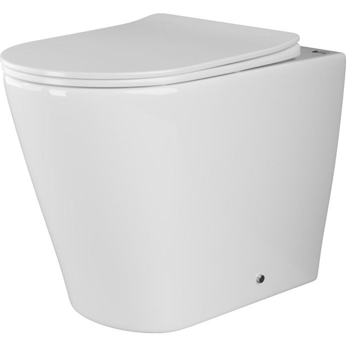 Приставной унитаз Ceramica Nova Highlight Rimless, с крепежом, сиденьем микролифт (CN1812 )