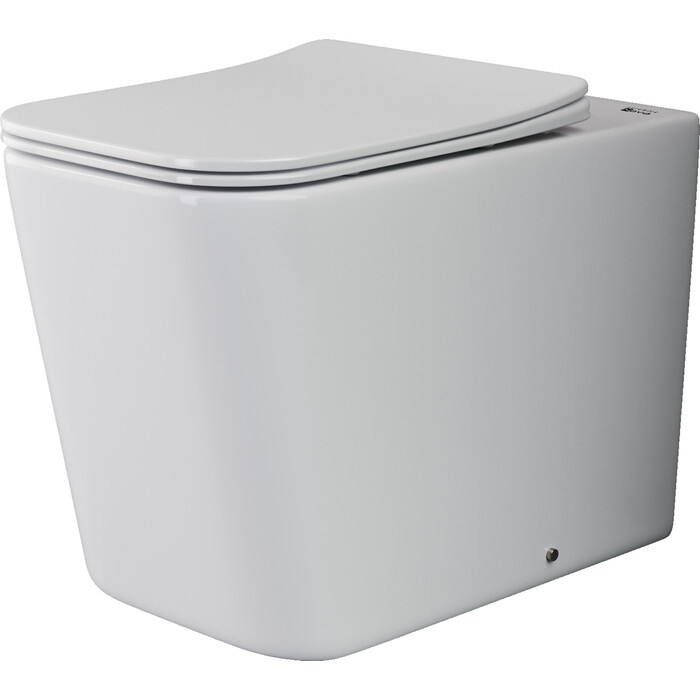 Приставной унитаз Ceramica Nova Cubic Rimless, с крепежом, сиденьем микролифт (CN1809)