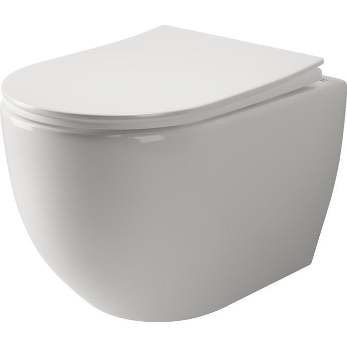 Подвесной унитаз Ceramica Nova Mia Rimless, с крепежом, сиденьем микролифт (CN1805)