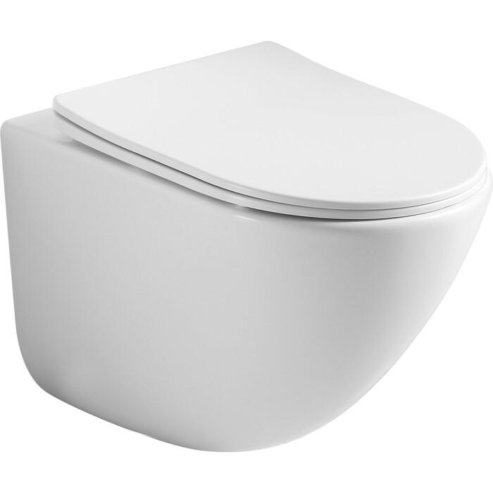 Подвесной унитаз Ceramica Nova Mono Rimless, с крепежом, сиденьем микролифт (CN1905)