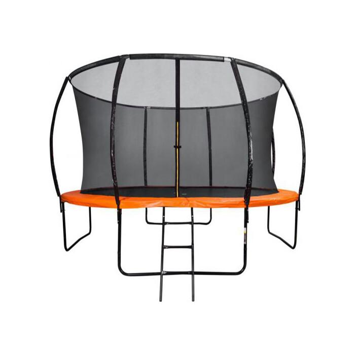 Батут DFC KENGOO II 12ft внутр.сетка, лестница, оранж/черн (366см)