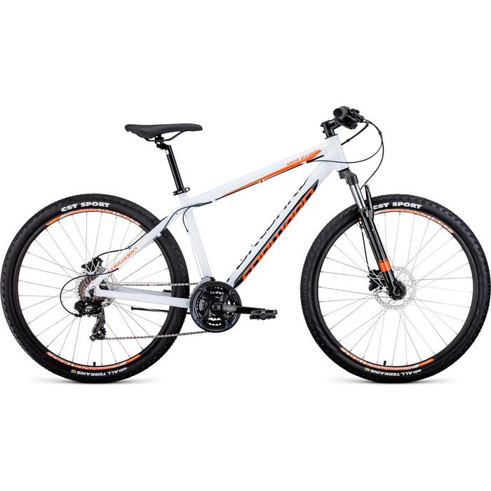 Велосипед Forward APACHE 27,5 3.0 disc (27,5 21 ск. рост 21) 2019-2020, белый/оранжевый, RBKW0M67Q044