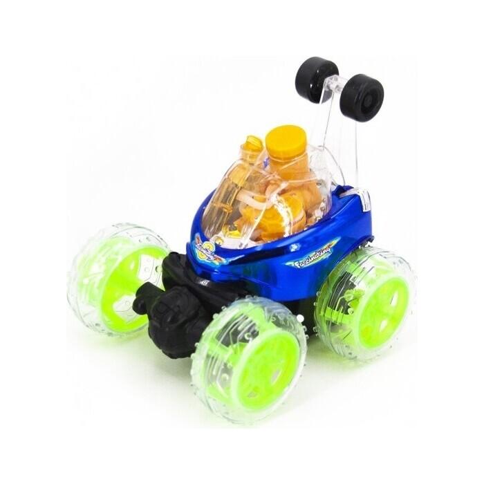 Радиоуправляемая машина Renda трюковая перевертыш (29 см, синий, мыльные пузыри) - RD970-3 renda радиоуправляемая трюковая машина перевертыш 29 см синий мыльные пузыри rd970 3