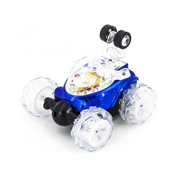 Радиоуправляемая машина Renda трюковая перевертыш, синий - RD930 renda радиоуправляемая трюковая машина перевертыш 29 см синий мыльные пузыри rd970 3