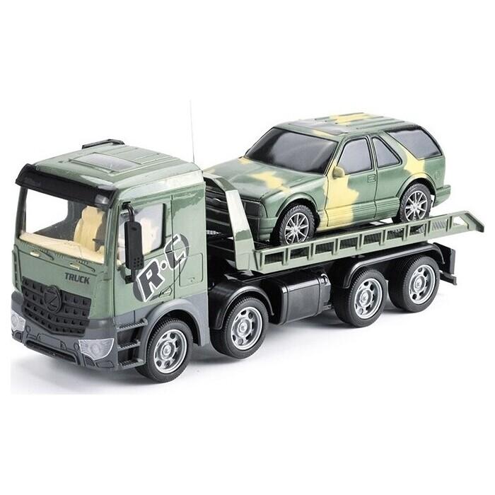 Радиоуправляемая машина Zhoule Toys грузовик-трейлер + джип CityTruck 1:24 - 553-B4