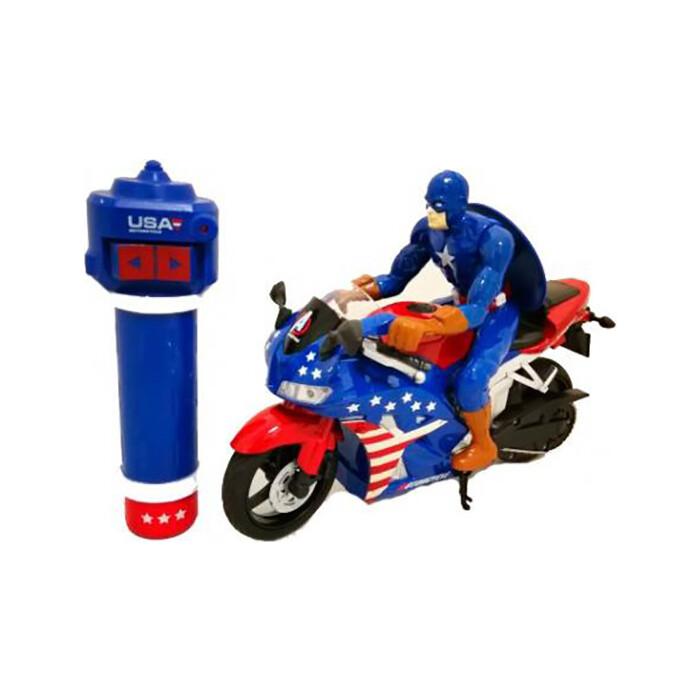 Радиоуправляемый мотоцикл Yongxiang Toys (Капитан Америка) с гироскопом - 8897-202A