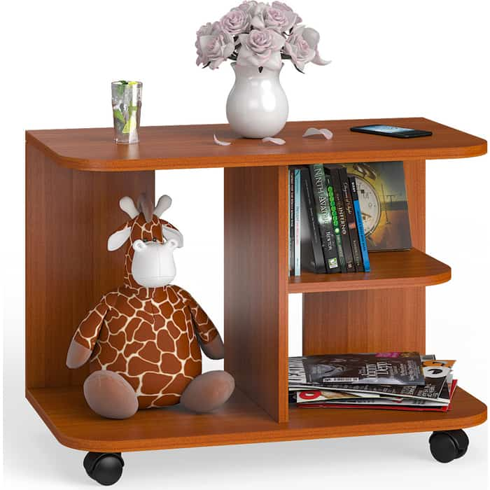 Стол журнальный Мебельный двор С-МД-СЖ-11 вишня на колесиках