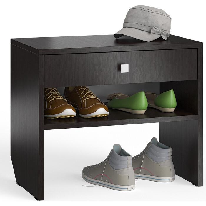 Тумба для обуви Мебельный двор С-МД-ТО-08 венге с выдвижным ящиком кровать с выдвижным ящиком paremo кровать с выдвижным ящиком